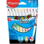 Flamastry Maped Colorpeps Brush 10 kolorów 848010