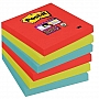 Bloczek samoprzylepny 76x76mm Post-it Super Sticky, paleta Bora Bora 654-6SS-JP