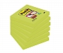 Bloczek samoprzylepny 76x76mm Post-it Super Sticky zielony 654-6SS-AW, 6szt.