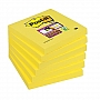 Bloczek samoprzylepny 76x76mm Post-it Super Sticky, żółty 654-S