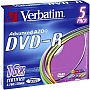 Płyta DVD-R Verbatim 4,7GB 16x slim colour 43557